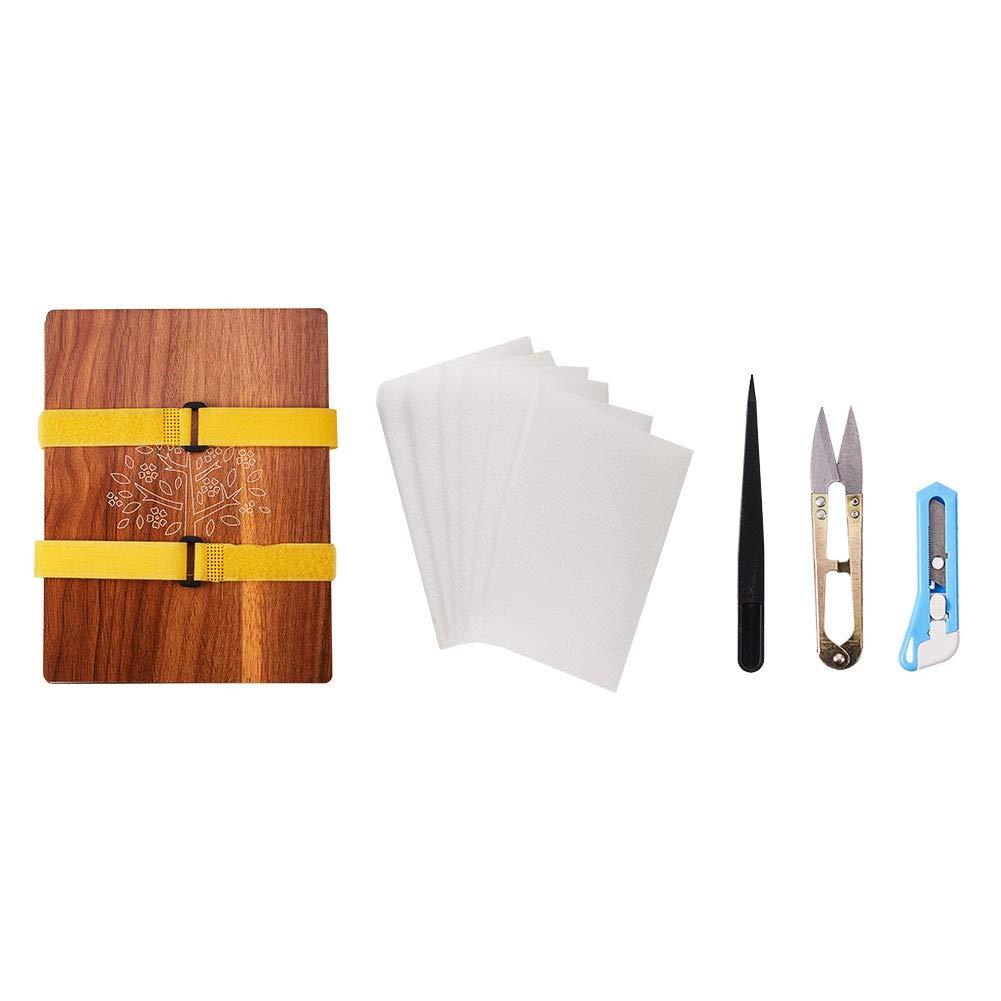 WANDIC Flower Press Kit, 1 Set Wooden Handicrafts Plant Press Craft Punch Wooden Art Kit Outdoor Play Learning Toy for DIY Art Handicraft by WANDIC