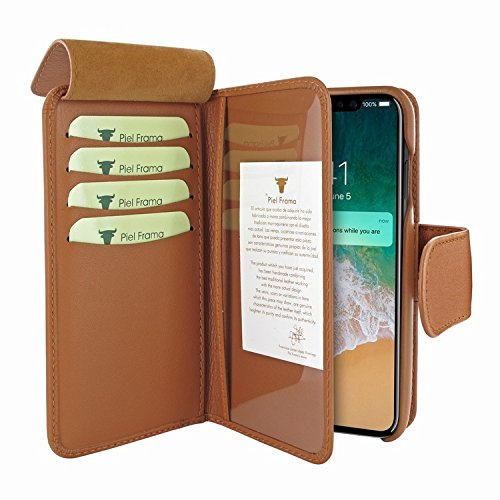 Piel Frama 793 Tan WalletMagnum Leather Case for Apple iPhone X by Piel Frama (Image #2)