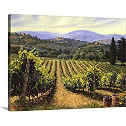 "Michael Swanson Premium Thick-Wrap Canvas Wall Art Print entitled Tuscany Vines 24""x18"""