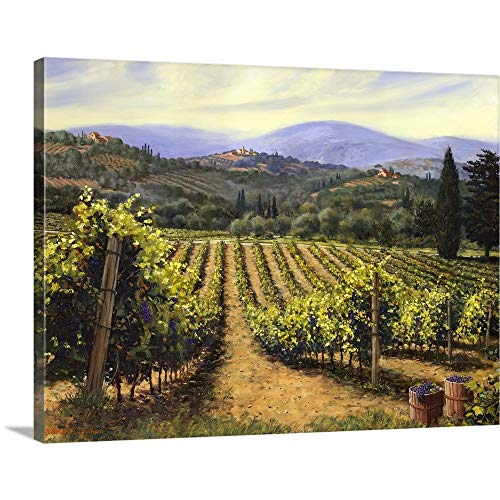 - Tuscany Vines Canvas Wall Art Print, 24