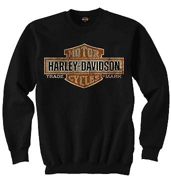 c04c88f338c Harley-Davidson Men's Elongated Bar & Shield Crew Neck Sweatshirt, Black ...