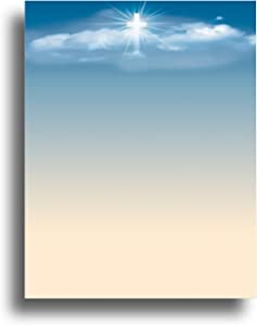 Cross in the Sky Religious Stationery Paper - 80 Sheets