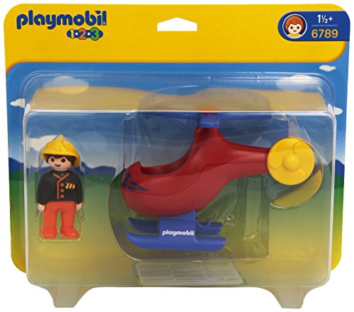 PLAYMOBIL Fire Rescue Helicopter (Rescue Helicopter Playmobil)