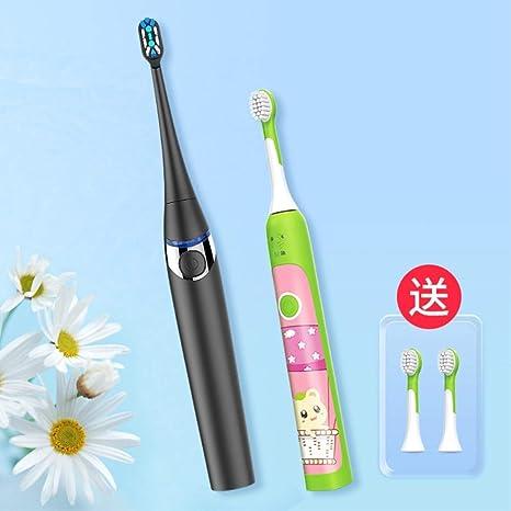 YAHRC Cepillo de dientes eléctrico para niños de contacto Tipo de cabezal de cepillo de onda