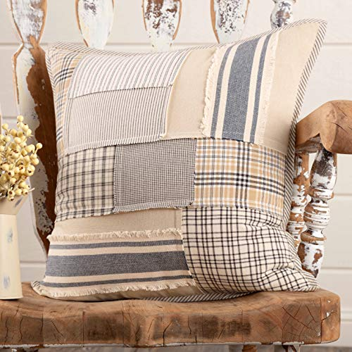 Piper Classics Mill Creek Patchwork Throw Pillow Cover, 20