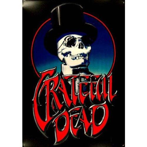 Dead Vintage Poster (Grateful Dead - Top Hat - Metal Print Poster)