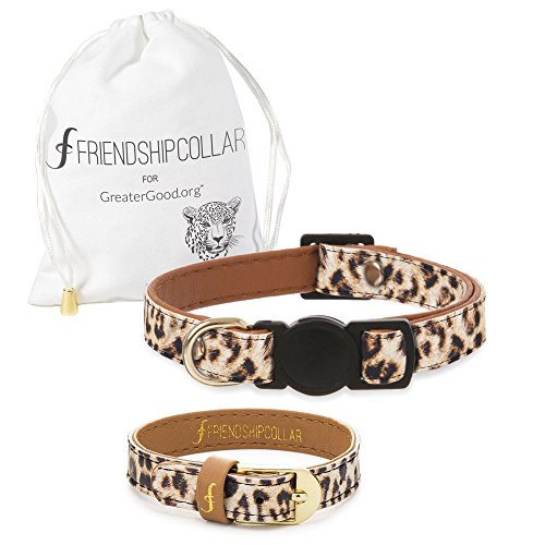 FriendshipCollar Dog or Cat Collar and Matching Bracelet Set – Wild and Free – Vegan Leather – 8 Every Purchase Helps…