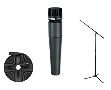 Shure SM57 Instrument Mic + SMC20 20' XLR Cable + Stand: Amazon ca