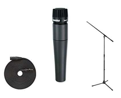 Amazon com: Shure SM57 Instrument Mic + SMC20 20' XLR Cable