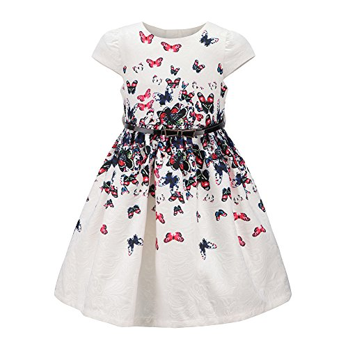 childdkivy Girls Floral Party Dress Princess Dresses for Kids Butterflies Size 8-9]()
