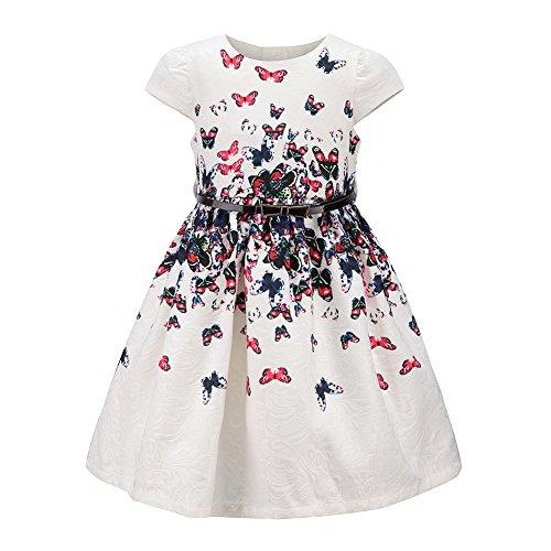childdkivy Girls Floral Party Dress Princess Dresses for Kids Butterflies Size 7-8