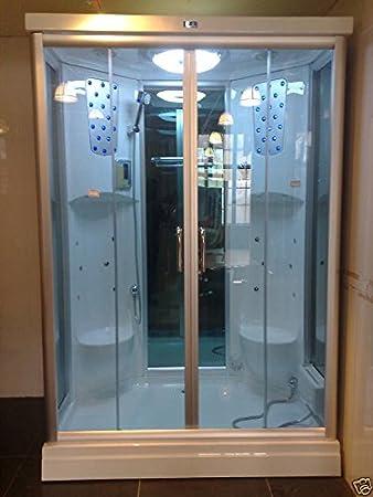 Cabina de ducha de vapor de 2 plazas Enclosure Cubículo nuevo Xavier Sauna Dos (1400 x 900): Amazon.es: Hogar