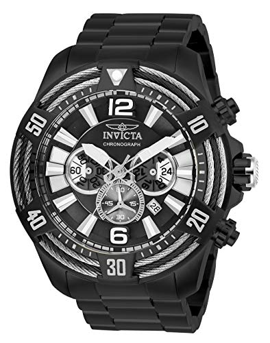 Invicta Men's Bolt Quartz Watch with Stainless Steel Strap, Black, 26 (Model: 27270) (Invicta 53mm Watch)