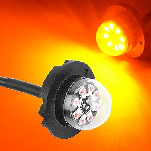 YITAMOTOR Hideaway Strobe Light 8 Chipsets Bumper Lights Hide-A-Way Emergency Vechile Warning Strobe - Headlight Flashers Light Tail