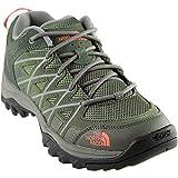 The North Face Women's Storm III Hiking Shoe (7.5 B(M) US, Deep Lichen Green/Feather Orange)