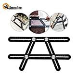 #1: Amenitee Universal Angularizer Ruler - Full Metal Multi Angle Measuring Tool-Ultimate Angleizer Template Tool-Upgraded Aluminum Alloy Multi Functional Ruler(Black)
