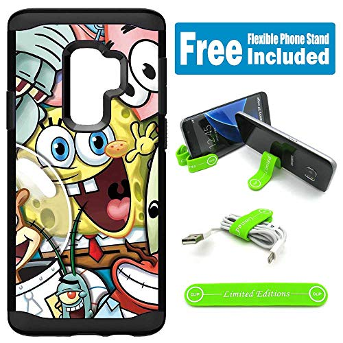 for Galaxy S9 Hybrid Rugged Hard Cover Case - Spongebob Friends (Note 4 Case Spongebob)