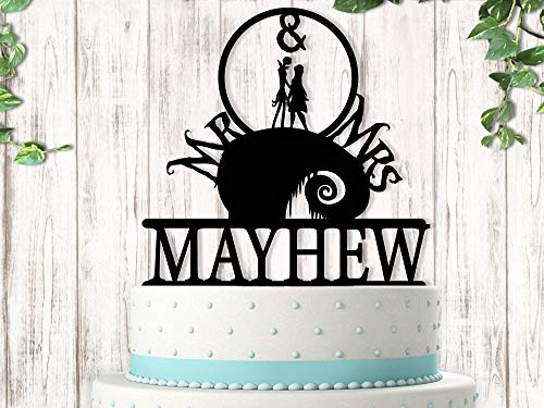 Mr and Mrs Jack and Sally Wedding Cake Topper]()