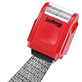 Identity Protection Roller Stamp LioNergy Wide Roller Identity Theft Prevention Security Stamp (Red...