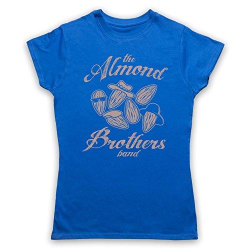Almond Brothers Band Rock Band Camiseta para Mujer Azul Real
