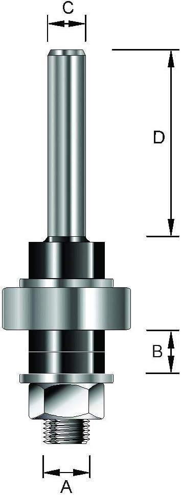 Durchmesser GL 68,5 mm D 34,5 mm B 13 mm 6,35 mm A C mit Kugellager 8 mm ENT 14000 Aufnahmedorn Schaft