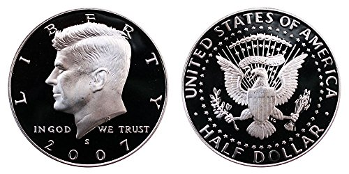 2007 S US Mint Deep Cameo Kennedy Silver Proof Half ()