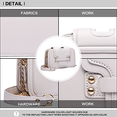 Clutch Clasp Pu Lulu Handbag With Beige Casual Crossbody Women Closure Chain Multi Bag 6711 Style Miss Leather Compartments Shoulder PfxZqOPd