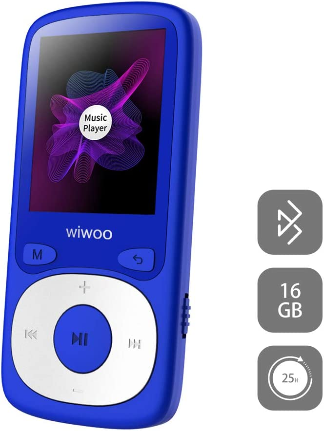 Mode Veille R/ép/étition A-B 16 Go HiFi Lecteur MP3 Running avec Radio FM Homme daffaires Extensible Jusqu/à 128 Go pour /étudiant Lecteur MP3 USB Enregistrement Vocal