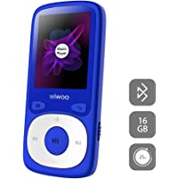 MP3 Player with Bluetooth, 16GB Portable Audio Music Player with FM Radio Voice Recorder Headphones, 16gb Sports MP3 Player Support Up to 128GB (B3BT3)