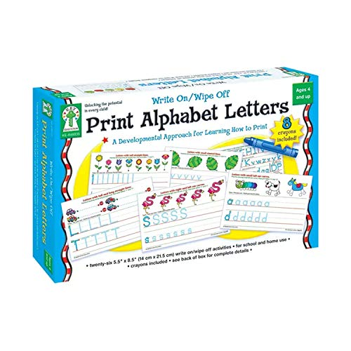 Key Education Publishing Write On/Wipe Off: Print Alphabet Letters