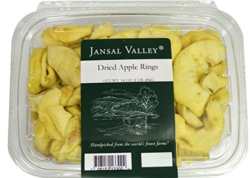 Jansal Valley Dried Apple Rings, 1 Pound Dried Apple Rings