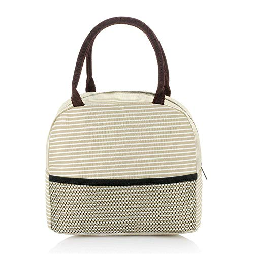 lovely beige lunchbag for guys or gals