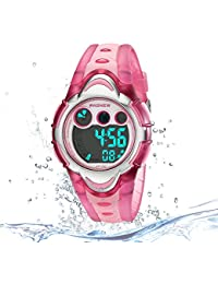 Kids Digital Sport Watch Outdoor Waterproof Watch with...