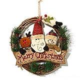 christmas wreath for front door, 14 inch/35cm door wreaths christmas home door hanger wall car