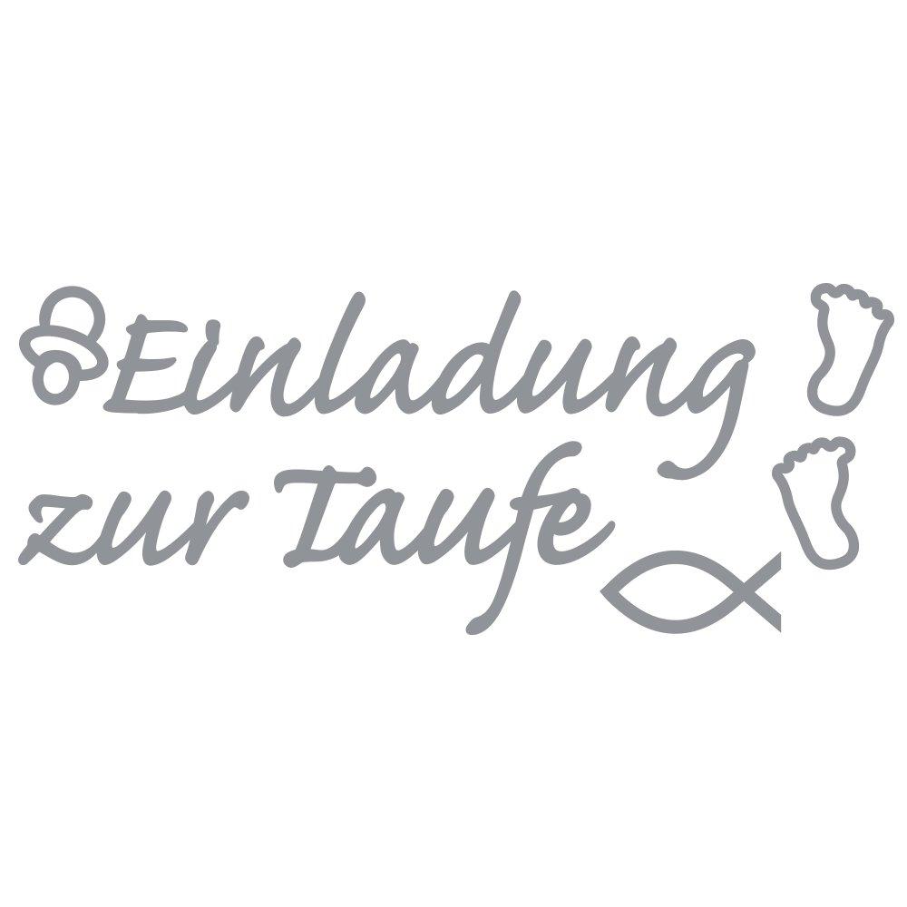 Rayher 30115606 Klebeschrift Einladung Zur Taufe, 10x23cm, Spiegelfol:  Amazon.de: Küche U0026 Haushalt
