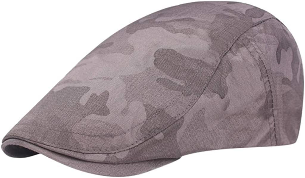 LOPILY 2019 Newsboy Hat Low Profile Flat Caps Lightweight Vintage Messy Casual Running Hat Performance Stretch Back Plain Hat