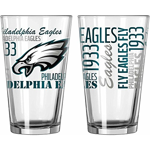Glass Eagle Mug (Philadelphia Eagles Official NFL 16 fl. oz. Spirit Pint Glass)