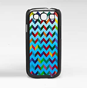 Bright Blue Rainbow Chevron 3d Pattern Hard Snap on Cell Phone Case Cover Samsung Galaxy I9300 (s3)