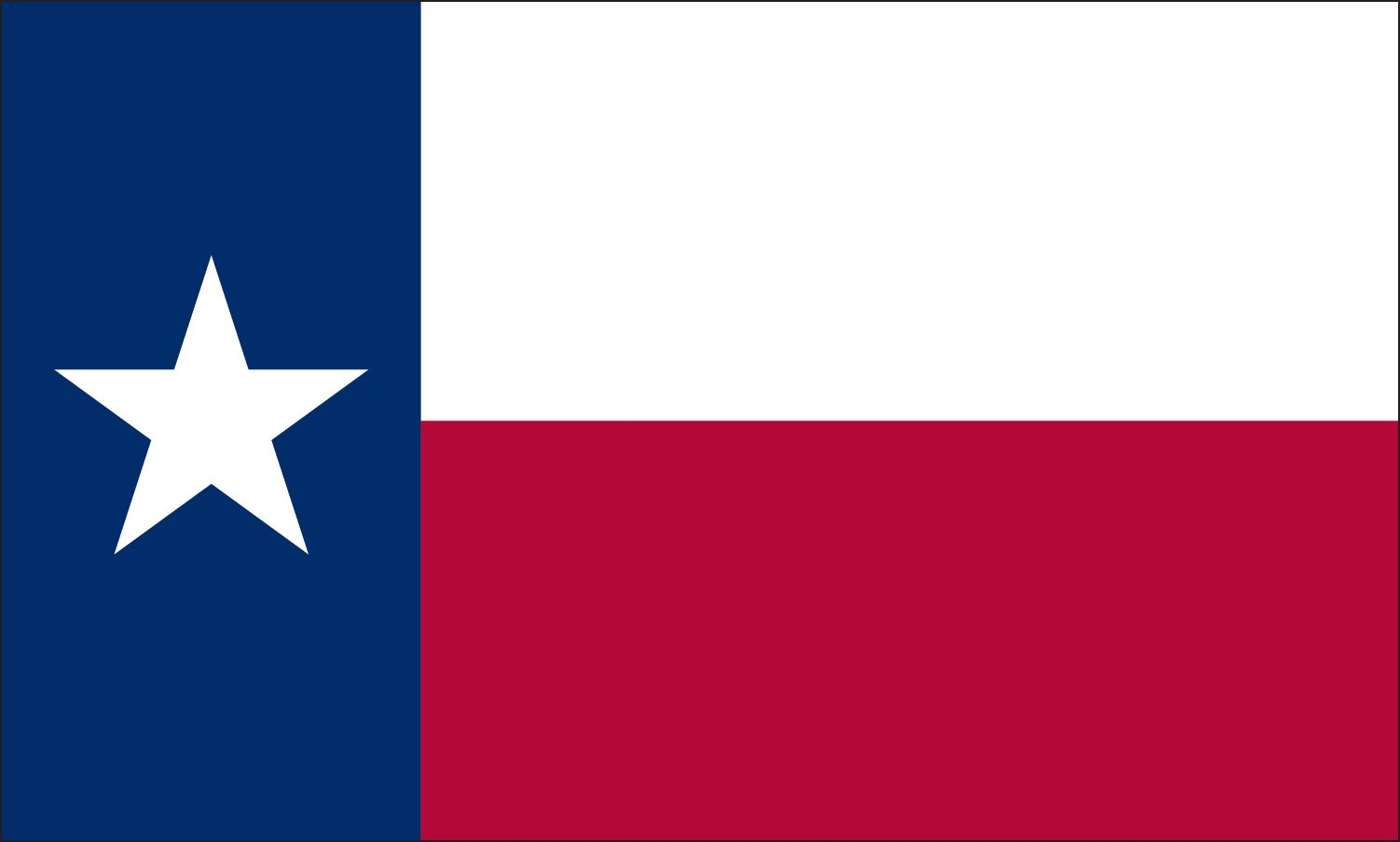 Valley Forge Flag 5-Foot by 8-Foot Commercial Polyester Texas State Flag with Appliqued Star and Sewn Components by Valley Forge