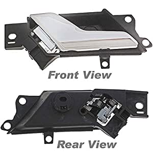 apdty 93766 interior door handle fits driver side left front or rear compatible with