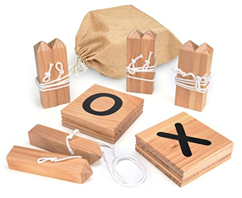 - Trademark Innovations Giant Wooden Tic Tac Toe Backyard Game