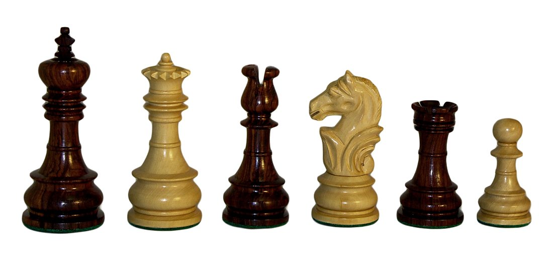 Checkmate Rosewood Lotus Chess Pieces by Checkmate