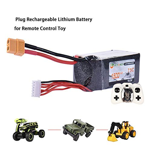 VOVI Rechargeable Battery - Rechargeable Batteries (Toy, Lithium Polymer, Black, Red) for Remote Control Toy for Long Flight