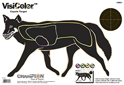 Champion VisiColor Coyote Target (Pack of 10)