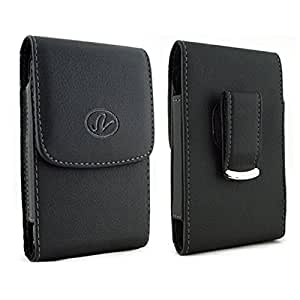 Pantech Flex Pantech P8010 Premium Horizontal Leather Case with Magnetic closure with belt clip and belt loops
