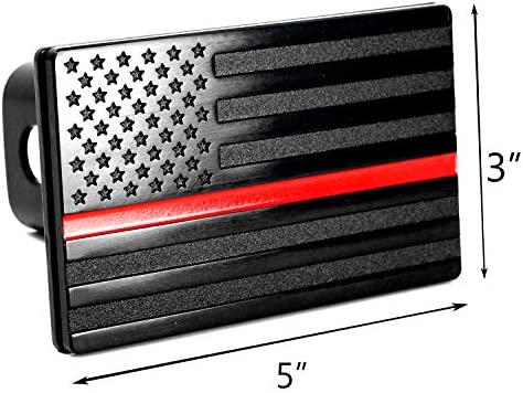 with Locking Pin USA American Black Flag Metal Trailer Hitch Cover for 2 inch Receivers Chevy Colorado Ford GMC Toyota Jeep Dodge Nissan Audi Porsche