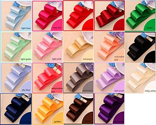 Solid Color Satin Ribbon 20 Colors 3/8