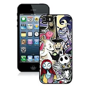 Hot Sale iPhone 5 5S Screen Case ,Nightmare before christmas 26 Black iPhone 5 5S Cover Unique And Popular Designed Phone Case