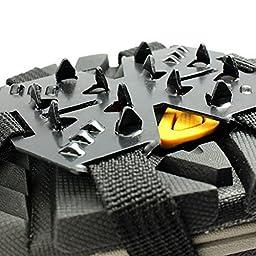 Ezyoutdoor 18 Teeth Climb Ice Snow Magic Spike Anti Slip Shoe Covers Footwear Crampons M size