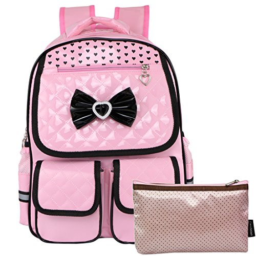 ther Laptop School Bag Travel Backpack + Zippered Pouch Set ()
